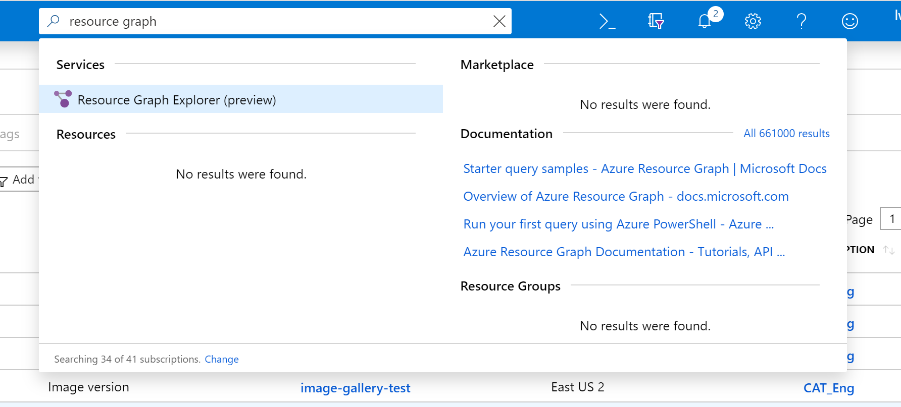 Finding Resource Graph Explorer (preview)