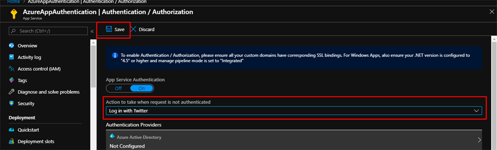 How To Secure Your Azure App Service With Twitter Authentication