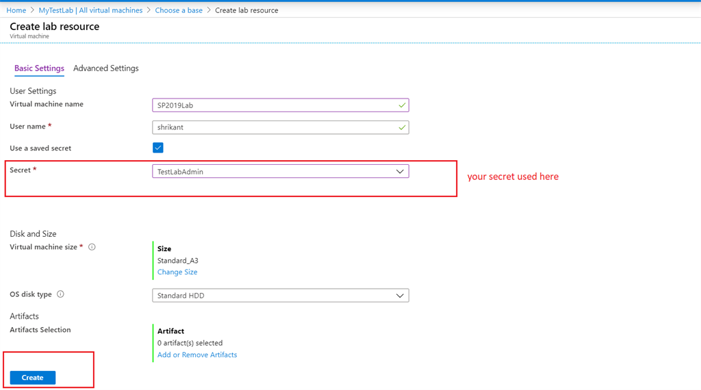 Setup Azure Dev Test Lab For SharePoint 2019
