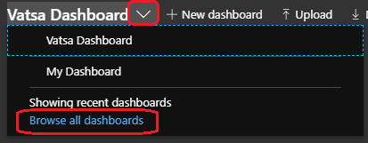"""click on the """"browse all dashboards"""""""