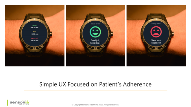 Simple UX focused on patient's adherence