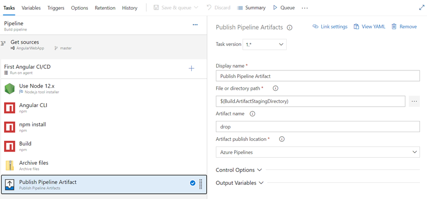 Create Build Pipeline For Angular App And Download Artifacts Using Azure Devops