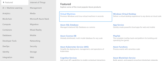 Azure Services and Resources