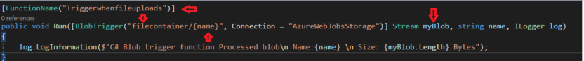 Create A Azure Function Triggered By Blob Storage Using C#